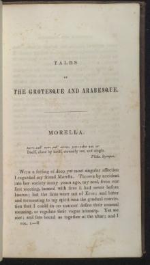 Morella - Tales of the Grotesque and Arabesque 1840.djvu