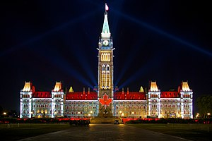Bicameralism - The federal bicameral Parliament of Canada, which contains a House of Commons and a Senate