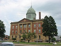 Moultrie County Courthouse, western side from south.jpg