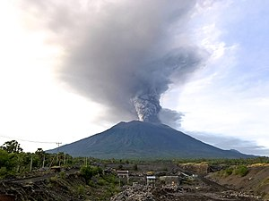 Mount Agung, November 2017 eruption - 27 Nov 2017 03.jpg