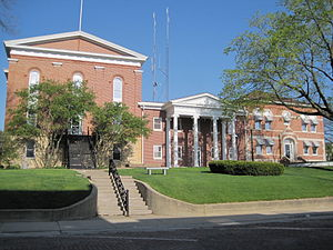 National Register of Historic Places listings in Carroll County, Illinois - Image: Mount Carroll courthouse