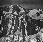 Mount Crillon, mountain glacier and hanging glaciers, September 12, 1973 (GLACIERS 5674).jpg