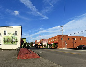 Mountain City, Tennessee - Buildings along Church Street