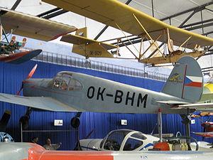 Prague Aviation Museum - Image: Mraz M 1C Sokol OK BHM