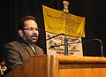 Mukhtar Abbas Naqvi addressing at the prize distribution ceremony of the 49th Youth Parliament Competition, 2014-2015, for the Schools under the Directorate of Education, Govt. of NCT of Delhi and New Delhi Municipal Council.jpg