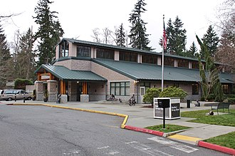 Mukilteo, Washington - The Mukilteo public library, located in Harbour Pointe and operated by Sno-Isle Libraries