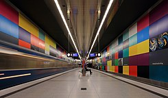 Munich subway station Georg-Brauchle-Ring.JPG