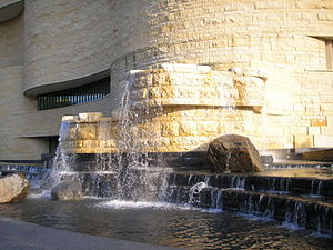 National Museum of the American Indian - Waterfall with the rocks