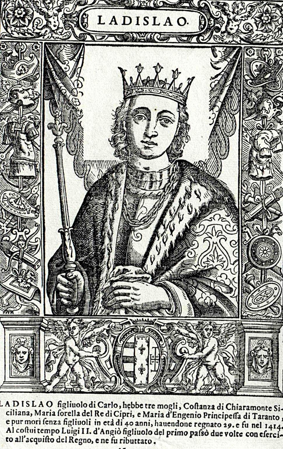Nápolyi László (Summonte rézmetszetéről)