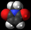 N-Methylmaleimide molecule spacefill.png