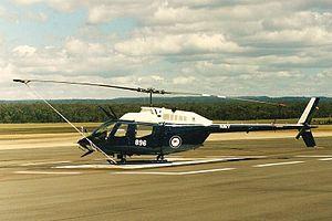 723 Squadron RAN - A Bell Kiowa of 723 Squadron in 1998