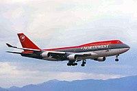 N661US 1 B747-451 Northwest A-l KIX 11JAN99 (6559458855).jpg