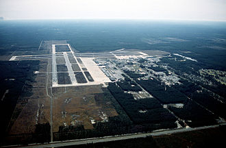 Naval Air Station Cecil Field - Image: NAS Cecil Field FL aerial 1992