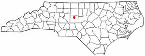 Randleman, North Carolina - Image: NC Map doton Randleman