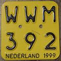 NETHERLANDS 1999 -MOPED-SCOOTER PLATE - Flickr - woody1778a.jpg