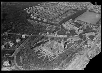 Peace Palace - Aerial view of the Peace Palace, Nederlands Instituut voor Militaire Historie, 1920-1940.
