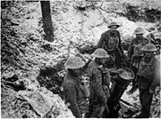 NLS Haig - Trench mortar and its crew, near Gommecourt