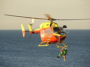 Air-sea rescue - An Auckland Rescue Helicopter in action