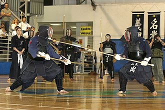 Naginata - A Naginatajutsu Tournament in Brazil, organised by the Confederação Brasileira de Kobudo.