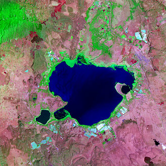 Lake Naivasha - Satellite image of Lake Naivasha