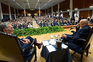 English: President Giorgio Napolitano with Gia...