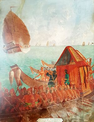 History of the Thai armed forces before 1852 - A Ayutthaya era Siamese war boat