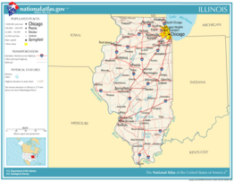 Kaart van State of Illinois