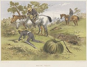 Australian frontier wars - Native police in 1865