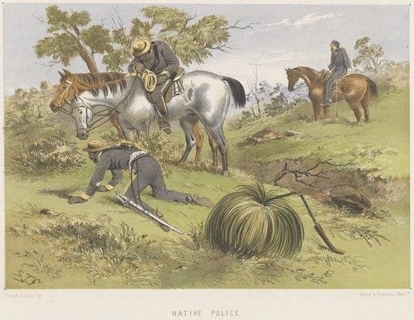 Native Australian police 1865