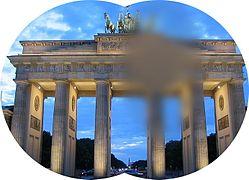 Negatives Skotom (Brandenburger Tor Blaue Stunde) 1