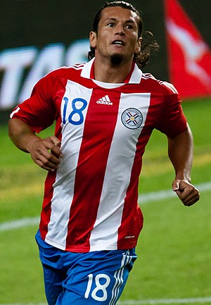 Nelson Valdez - Valdez playing for Paraguay