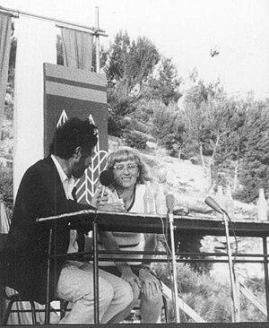 Dahn Ben-Amotz - Photo of Netiva Ben-Yehuda with Dahn Ben-Amotz from Palmach Archive