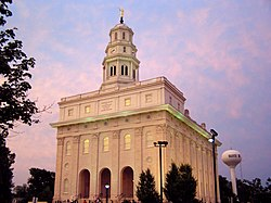 The rebuilt Nauvoo LDS Temple