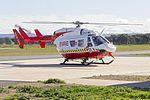 New South Wales Rural Fire Service (VH-VRQ) Kawasaki Heavy Industries BK117 B-2 at Wagga Wagga Airport.jpg