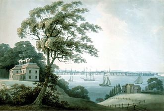 Archibald Robertson (painter) - New York seen from Long Island, 1795