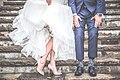 Newlyweds legs on stairs Cambridge Mill (Unsplash).jpg