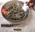 Ngala - edible caterpillars - Imbrasia forda - Cirina forda, DR Congo.jpg