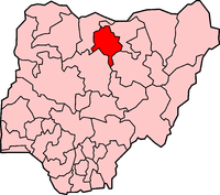 Location of Kano State in Nigeria