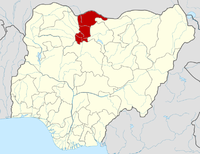 Location of Katsina State in Nigeria