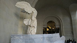 Winged Victory of Samothrace - The Winged Victory of Samothrace, side view.