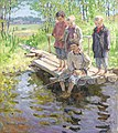 Nikolai Bogdanov-Belsky - Little boys eager for a catch.jpg