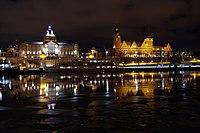 Nocny widok z wyspy Grodzkiej, Szczecin - panoramio.jpg