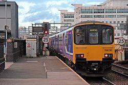 Northern Rail Class 150, 150150, Salford Central railway station (geograph 4500626).jpg