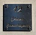 """Numéro de rue 12 et inscription """"Chien lunatique"""".jpg"""