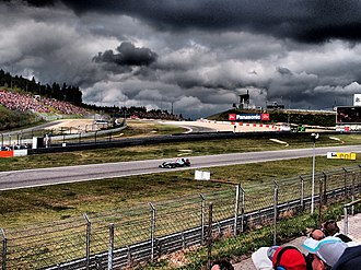Nürburgring - Rain clouds gather over the Ring during the 2011 German Grand Prix.