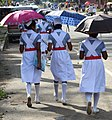 Nursing Students in Street - Anuradhapura - Sri Lanka (14148505392).jpg