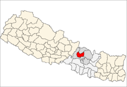map of Nuwakot, Nepal