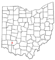 Location of Clarksville, Ohio