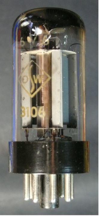 6V6 - 3106 - 6V6 tube made in East Germany.