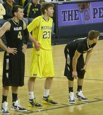 Evan Smotrycz - Smotrycz (23) playing for Michigan